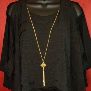 3/$25. IZ Byer black blouse